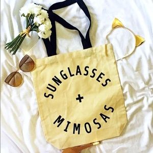 Handbags - Sunglasses and Mimosas Canvas Tote
